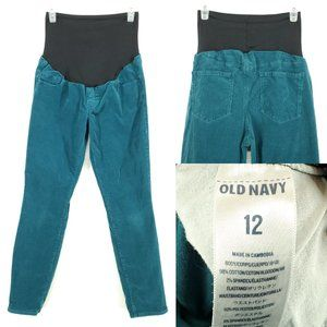 OLD NAVY Maternity Corduroy Pants Full Panel Teal
